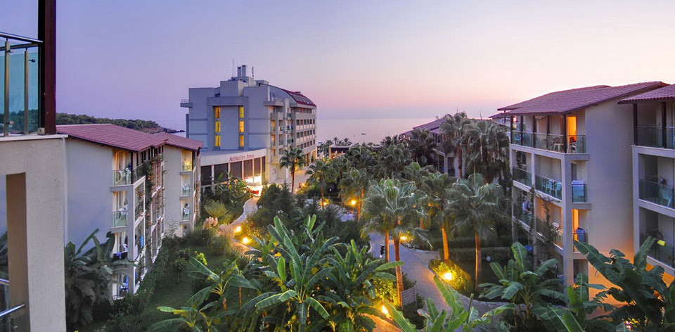 Pohled na hotel Aska Buket Resort, Alanya