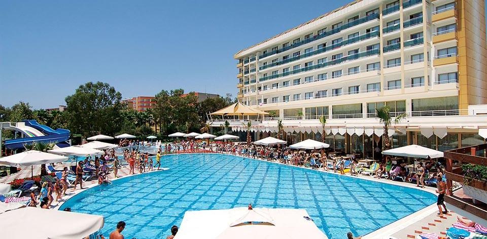Pohled na hotel Lti Lycus Beach, Alanya