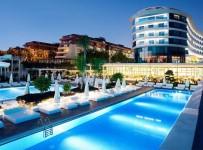 Pohled na hotel Q Premium Resort, Alanya